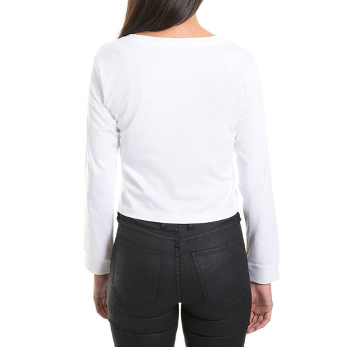 LONGSLEEVE CROP - WHITE