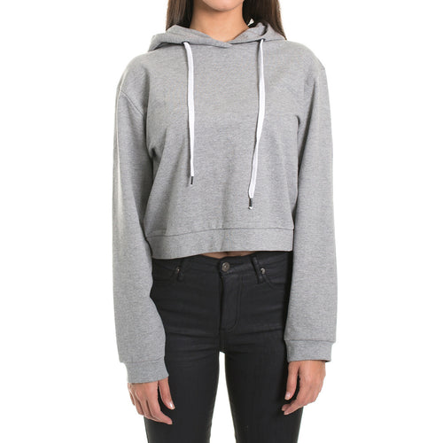 CROP HOOD - GREY MARLE