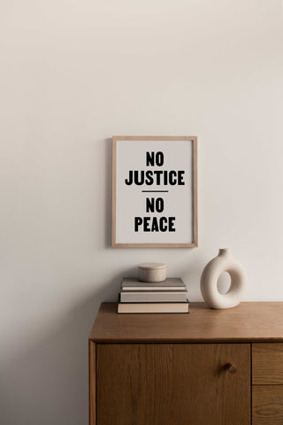 FUNDRAISER - No Justice No Peace - Print/Poster