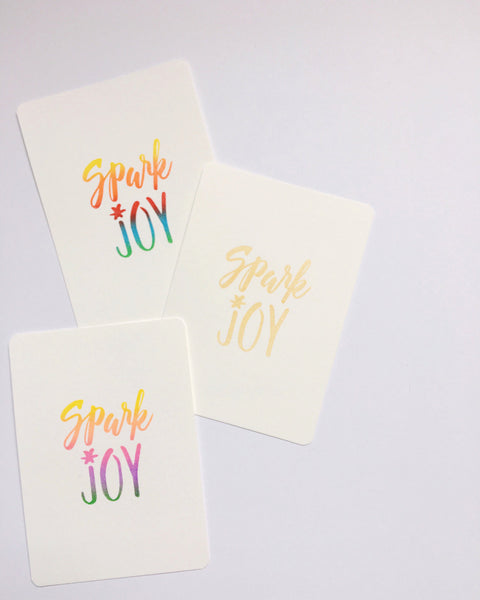 Spark Joy - Embossed Postcard - Set of 4