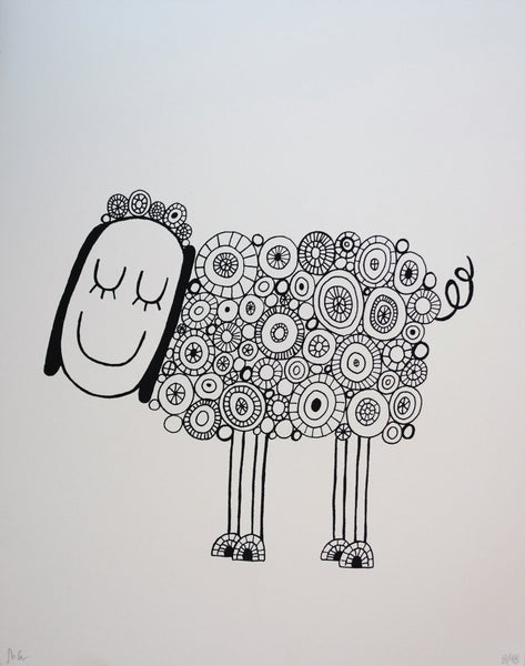 Sheep - Limited Edition Screen Printed Poster 11 x 14
