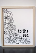 Load image into Gallery viewer, Sand Dollar Starfish Ocean Sea - Limited Edition Screen Printed Poster 11 x 14
