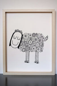 Good Day Sunshine -Limited Edition Screen Printed Poster Wall Art Print 11 x 14
