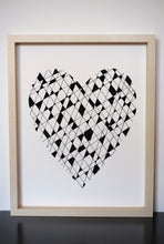 Load image into Gallery viewer, Geometic Heart - Screen Printed Poster Wall Art Print 11 x 14