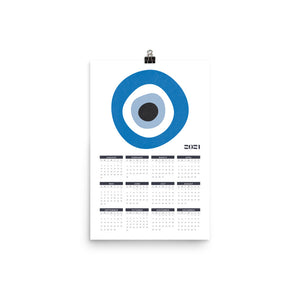 2021 Evil Eye Calendar (more colors)