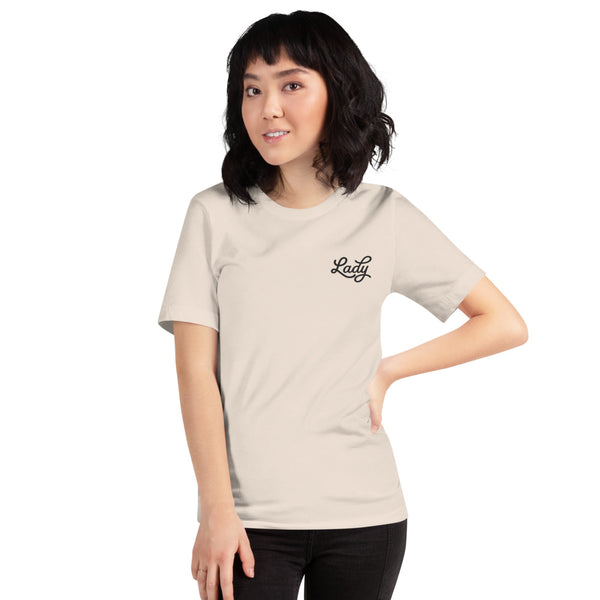 Lady - Adult Embroidered Unisex T-Shirt