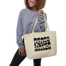 Load image into Gallery viewer, Peacemaker - Large Organic Tote Bag