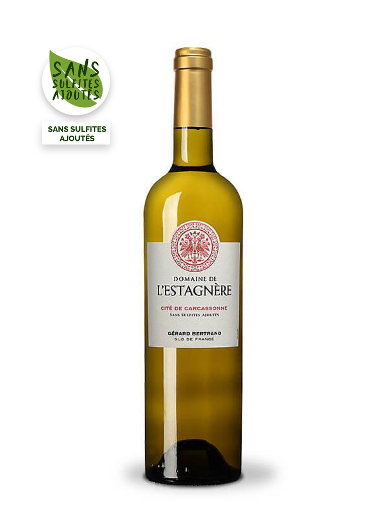 domaine de l'estagnere cite de carcassonne sulphite-free white wine