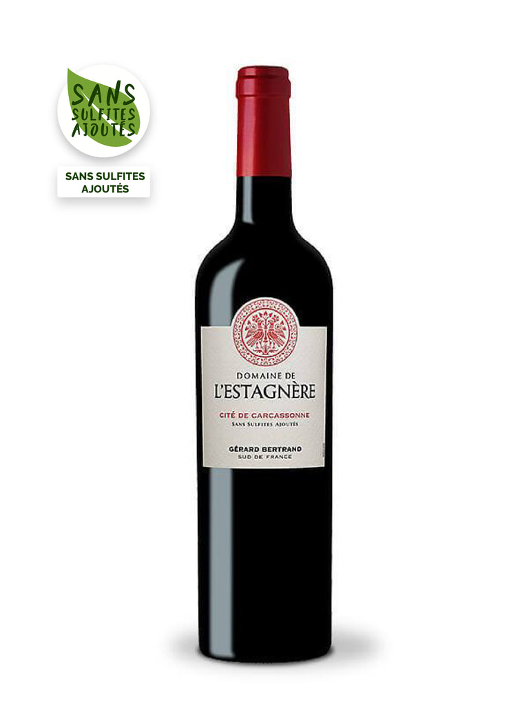 domaine de l'estagnere cite de carcassonne sulphite-free red wine