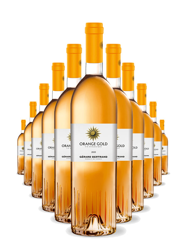 orange gold vino de naranja ecológico gérard bertrand vin de france 12 botellas