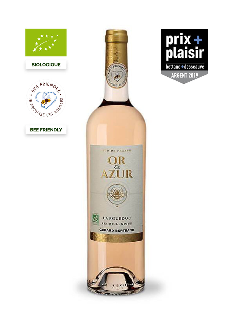 gold and azure organic rosé wine bee friendly 2019 prix plaisir bettane et desseauve