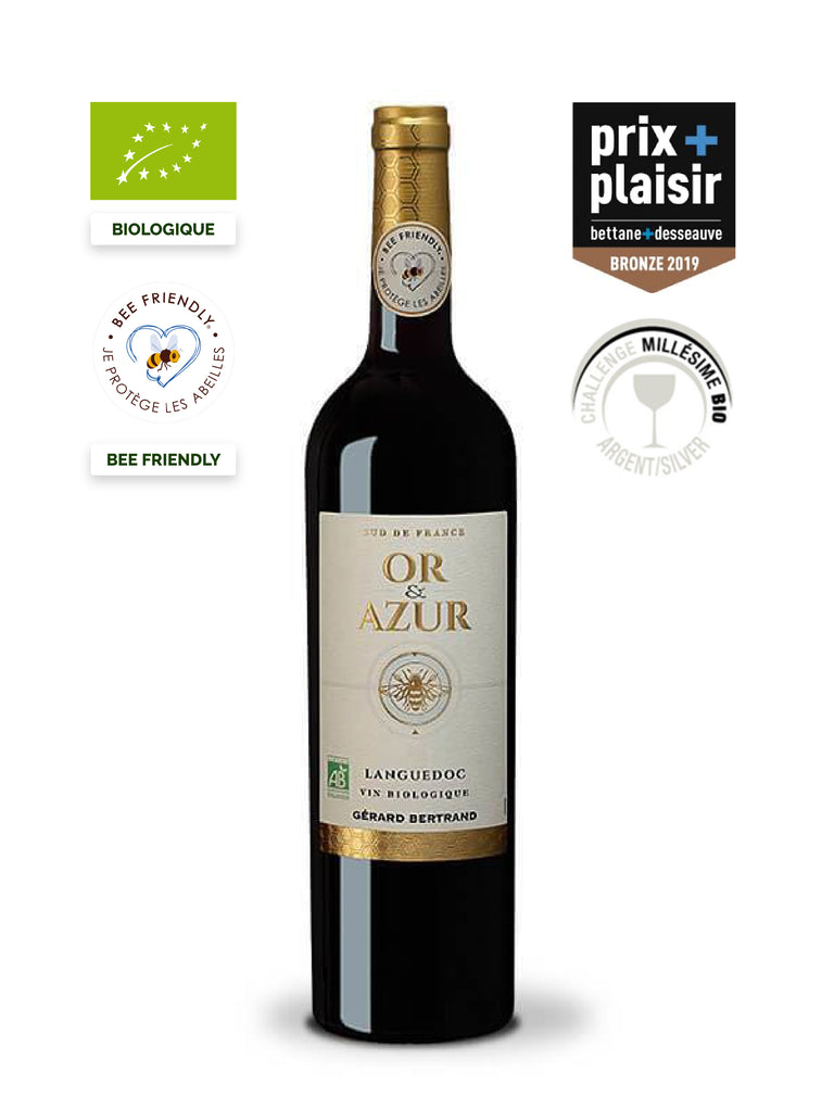 gold and azure organic red wine bee friendly prix plaisir bettane et desseauve