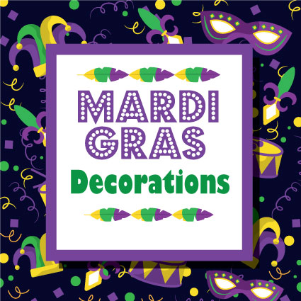 Decorations for Mardi Gras