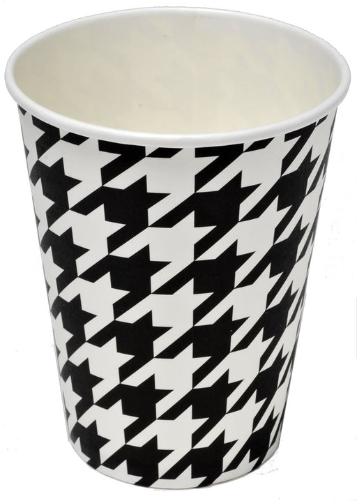 Cups, Bamaflage Houndstooth 12oz Paper 8pk, Decorations-GulfCoastBeads.com