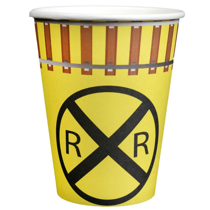 Cups, Railroad Train 12oz Paper Party 8Pk, Decorations-GulfCoastBeads.com