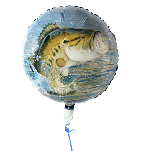 Balloon, Gone Fishin' 18in Mylar Round 1Pc, Decorations-GulfCoastBeads.com