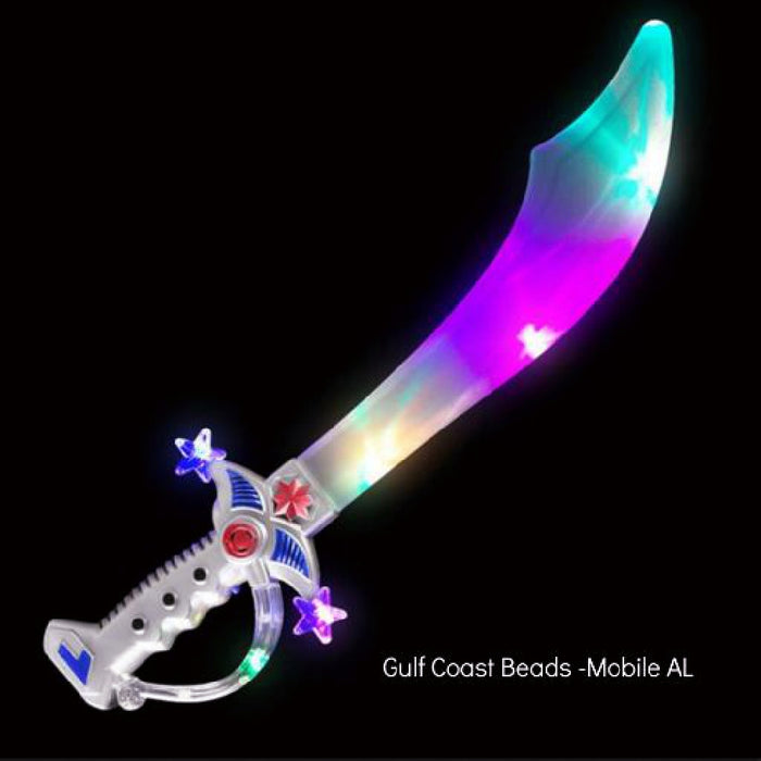 Best Place To Buy Sword, 19in Multicolor Light Up Pirate Sword 1 piece Online - Gulf Coast Beads