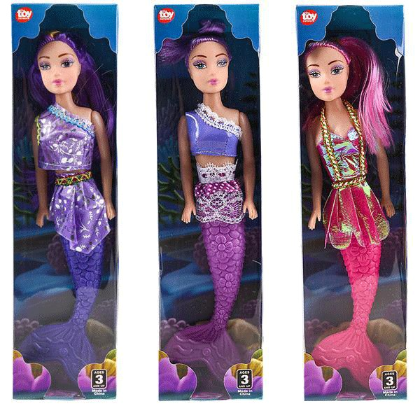 Fun playtime starts with these mermaid dolls.