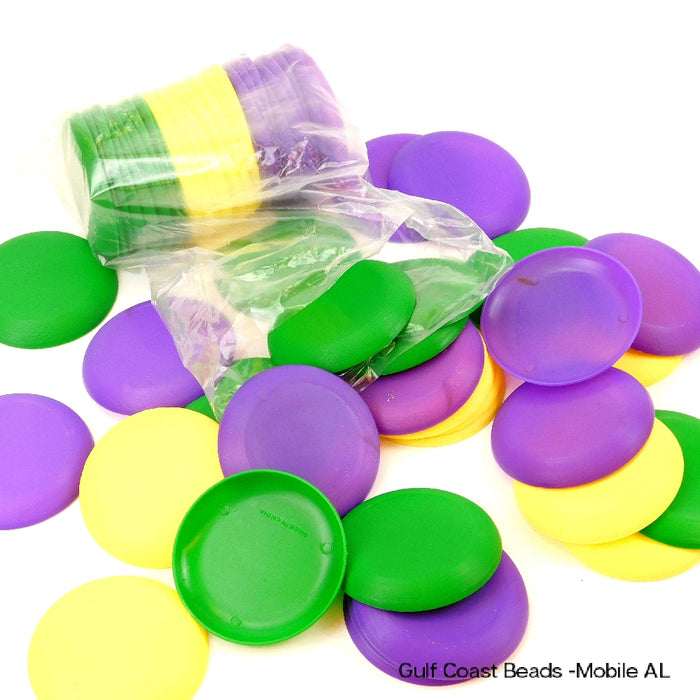 Best Place To Buy Saucers, 3.5-inch Purple, Green, Yellow Flying Disks Online - Gulf Coast Beads