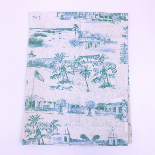 Hand Towel, Coastal 30A Toile, Artist Showcase-GulfCoastBeads.com
