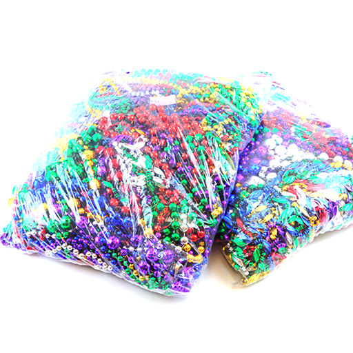 Great value - mixed sizes and types of throw beads 24DZ | Gulf Coast Beads