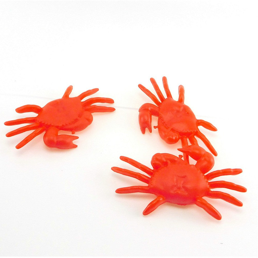 Crabs, 6in Red 4Dz/Bag, Novelty-GulfCoastBeads.com