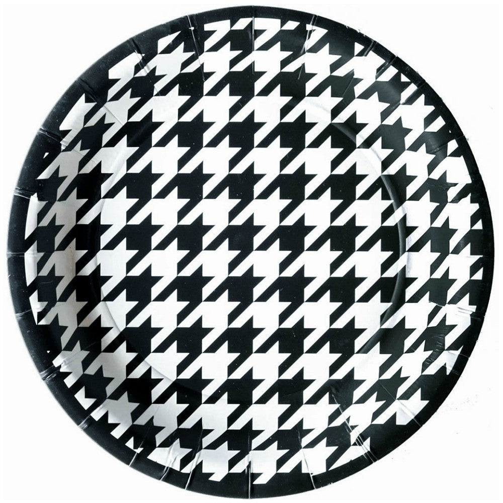 Best Place To Buy Plates, Bamaflage Houndstooth 7in Paper 8pk Online - Gulf Coast Beads