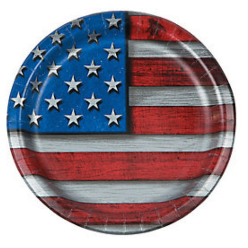 Best Place To Buy Plates, Patriotic 'Steel' Flag 7in Paper 8Pk Online - Gulf Coast Beads