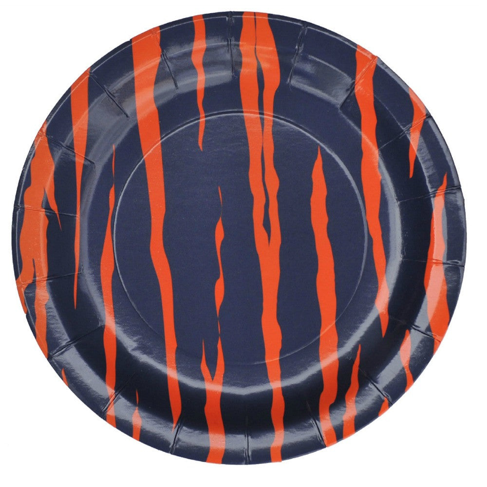 Best Place To Buy Plates, Blue Orange Tiger Stripe 7in Paper 8Pk Online - Gulf Coast Beads