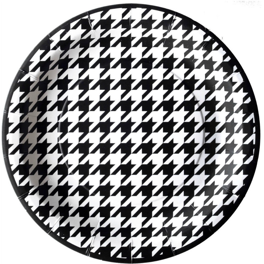 Best Place To Buy Plates, Bamaflage Houndstooth 9in Paper 8pk Online - Gulf Coast Beads