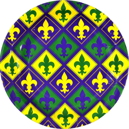 Best Place To Buy Plates, Mardi Gras Fleur de Lis 9in Paper 8/Pk Online - Gulf Coast Beads