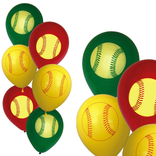 Balloons, Girls Fastpitch Latex 12in 6pc, Decorations-GulfCoastBeads.com