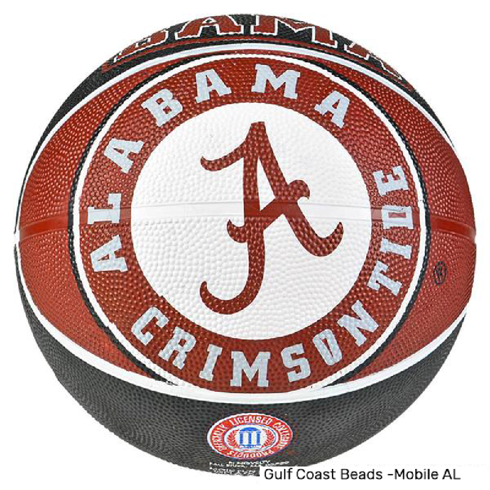 Basketball, University of Alabama Regulation Size -Single, Novelty-GulfCoastBeads.com