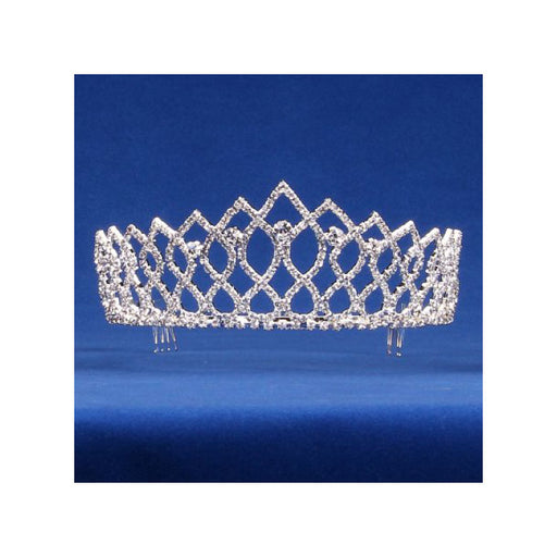 Fancy Rhinestone Tiara for Queens and Princess  - Gulf Coast Beads
