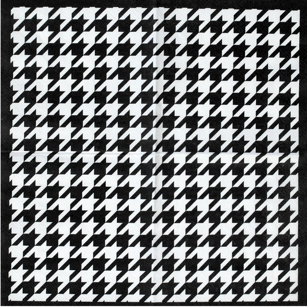 Napkins, Bamaflage Houndstooth Beverage 16pk, Decorations-GulfCoastBeads.com