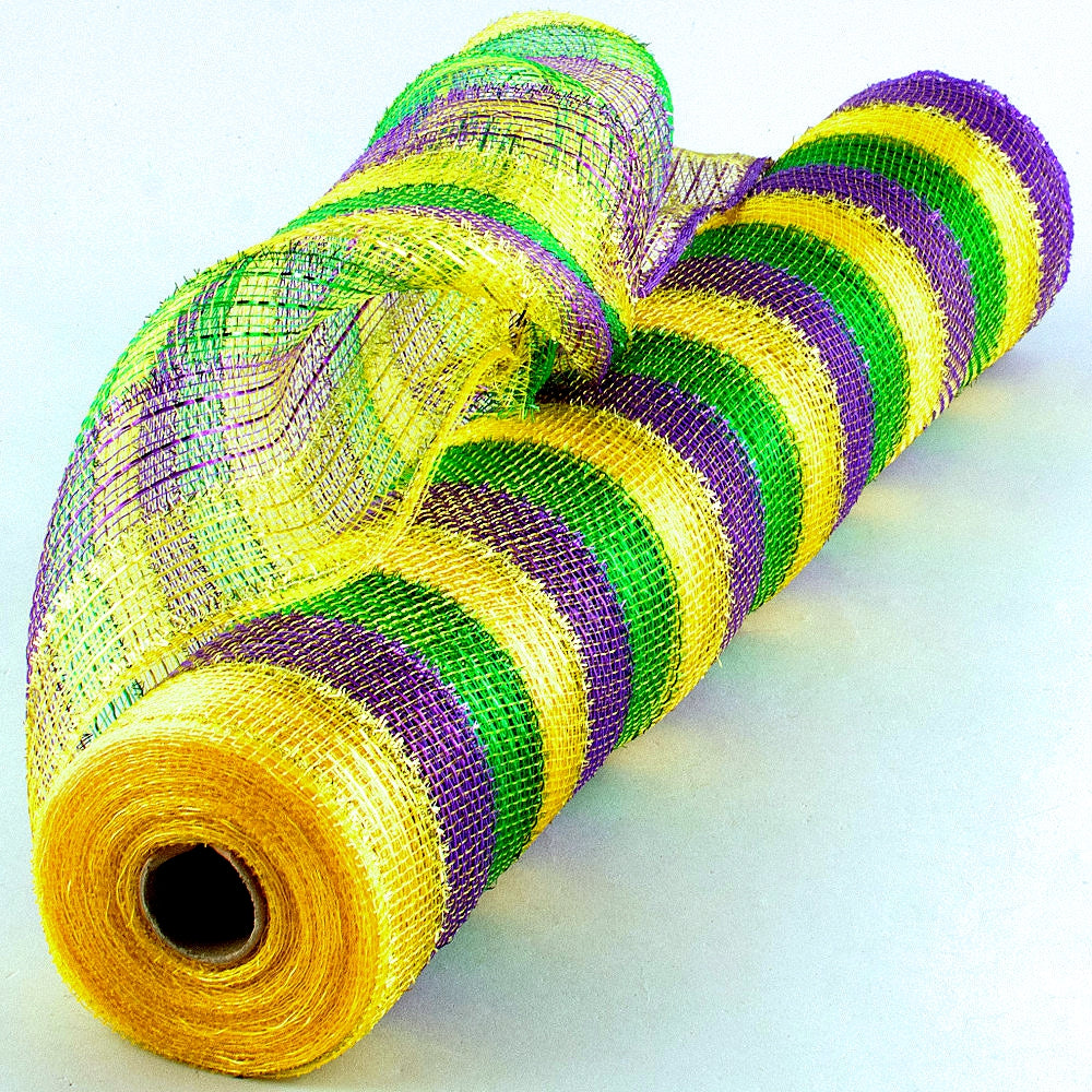 Mesh, Metallic with Tinsel Decorating 21in x 10yds/Roll, Decorations-GulfCoastBeads.com