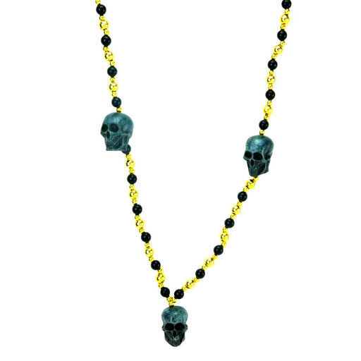 Best Place To Buy Black Gold 3D Skull Metallic Beads Online - Gulf Coast Beads