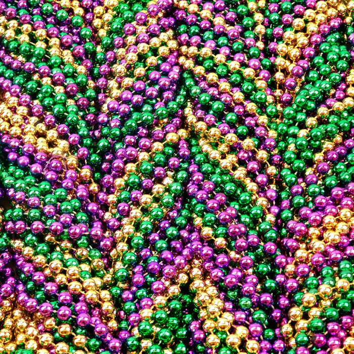 Beads, 10mm 48in Metallic Purple, Green, & Gold, Beads-GulfCoastBeads.com