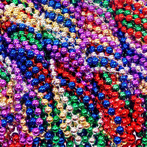 Beads, 12mm 33in Metallic Asst Colors, Beads-GulfCoastBeads.com