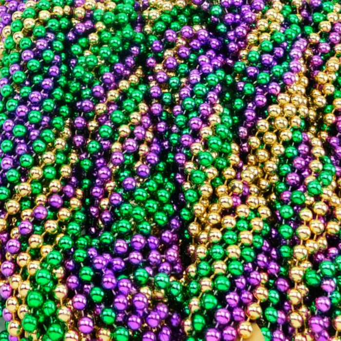 Beads, 12mm 33in Metallic Purple, Green, & Gold, Beads-GulfCoastBeads.com