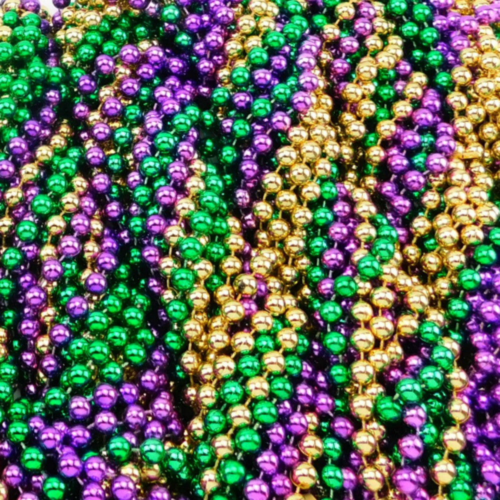 Beads, 12mm 48in Metallic Purple,Green,Gold, Beads-GulfCoastBeads.com