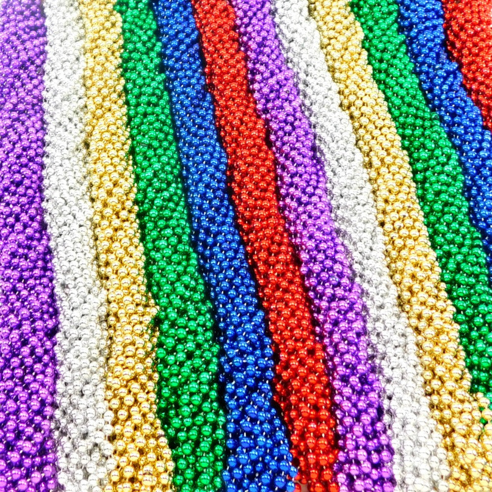Beads, 7.5mm 48in  Metallic Asst Color, Beads-GulfCoastBeads.com