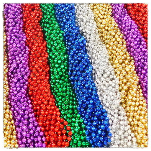 Beads, 7mm 33in Metallic Asst Colors, Beads-GulfCoastBeads.com