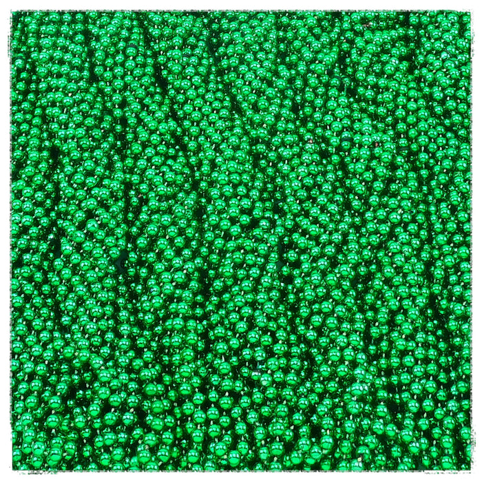 Beads, 7mm 33in  Metallic Green, Beads-GulfCoastBeads.com