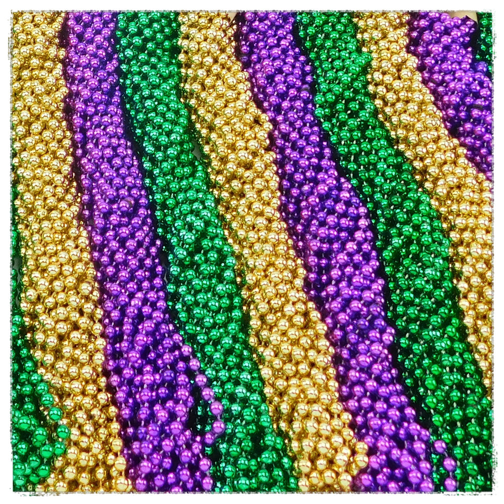 Beads, 7mm 33in Metallic Purple,Green,Gold, Beads-GulfCoastBeads.com