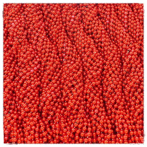 Beads, 7mm 33in Metallic Red, Beads-GulfCoastBeads.com