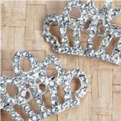 rhinestone and silver metal crown or tiara pins - Gulf Coast Beads