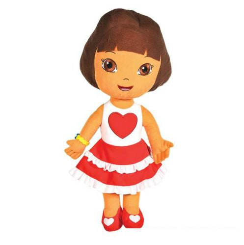 "Dora The Explorer, 17"" Plush Doll In Heart Dress, Novelty-GulfCoastBeads.com"