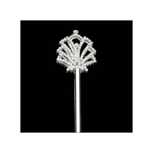 diamond rhinestone and silver scepter for kings and queens - Gulf Coast Beads