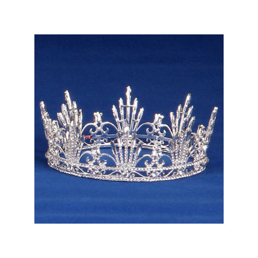 Regal diamond rhinestone crown for special events - Gulf Coast Beads